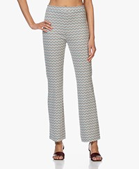 no man's land Jersey Flared Broek - Ocean Air