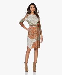 Kyra & Ko Bente Printed Crepe Jersey Dress - Khaki