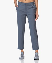 Filippa K Emma Cropped Cool Wool Pantalon - Vergrijsd Blauw