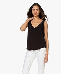 ba&sh Figue Reversible Crepe Top - Black