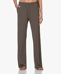 no man's land Crepe Jersey Pants - Soft Safari Green