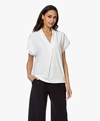 By Malene Birger Oliverza Crêpe Jersey T-shirt - Soft White