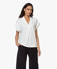 By Malene Birger Oliverza Crepe Jersey T-shirt - Soft White