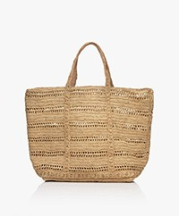 Vanessa Bruno Raffia Shopper - Naturel