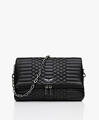 Zadig & Voltaire Rocky Mat Lamb Skin Cross-body/Shoulder Bag - Black