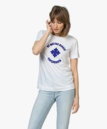 By Malene Birger Flock Print T-shirt - Pure white