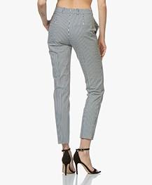 HUGO Herila Gestreepte Pantalon - Donkerblauw/Wit