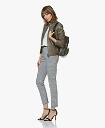 BOSS Jafable Leather Biker Jacket - Bright Green