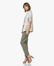 Filippa K Silk Satin Pyjama Blouse - Mousse