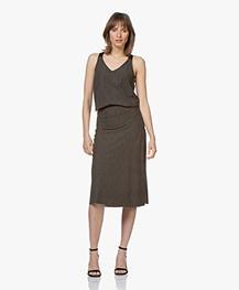 JapanTKY Dyoko Travel Jersey Print Skirt - Linen