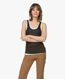 Majestic Filatures Alice Soft Touch Jersey Tanktop - Greige