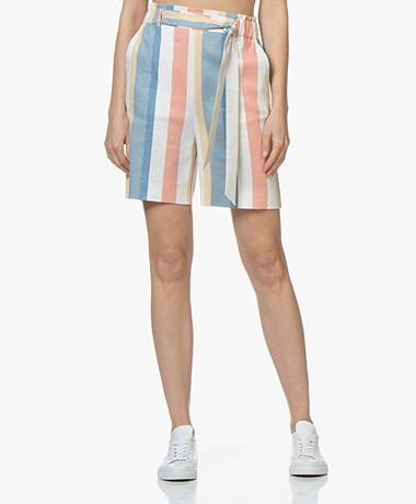 BOSS Sanotta Striped Bermuda Shorts - Open Miscellaneous