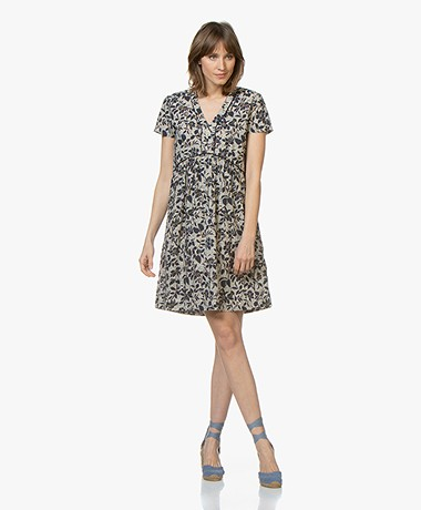 MKT Studio Rasori Floral Cotton Dress - Craie