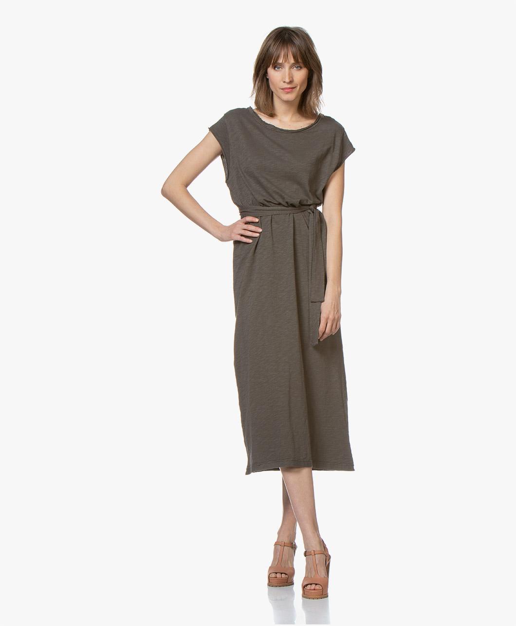 b27844c29d1 American Vintage Bysapick Jersey Midi Dress - Copse - bysa96 bosq