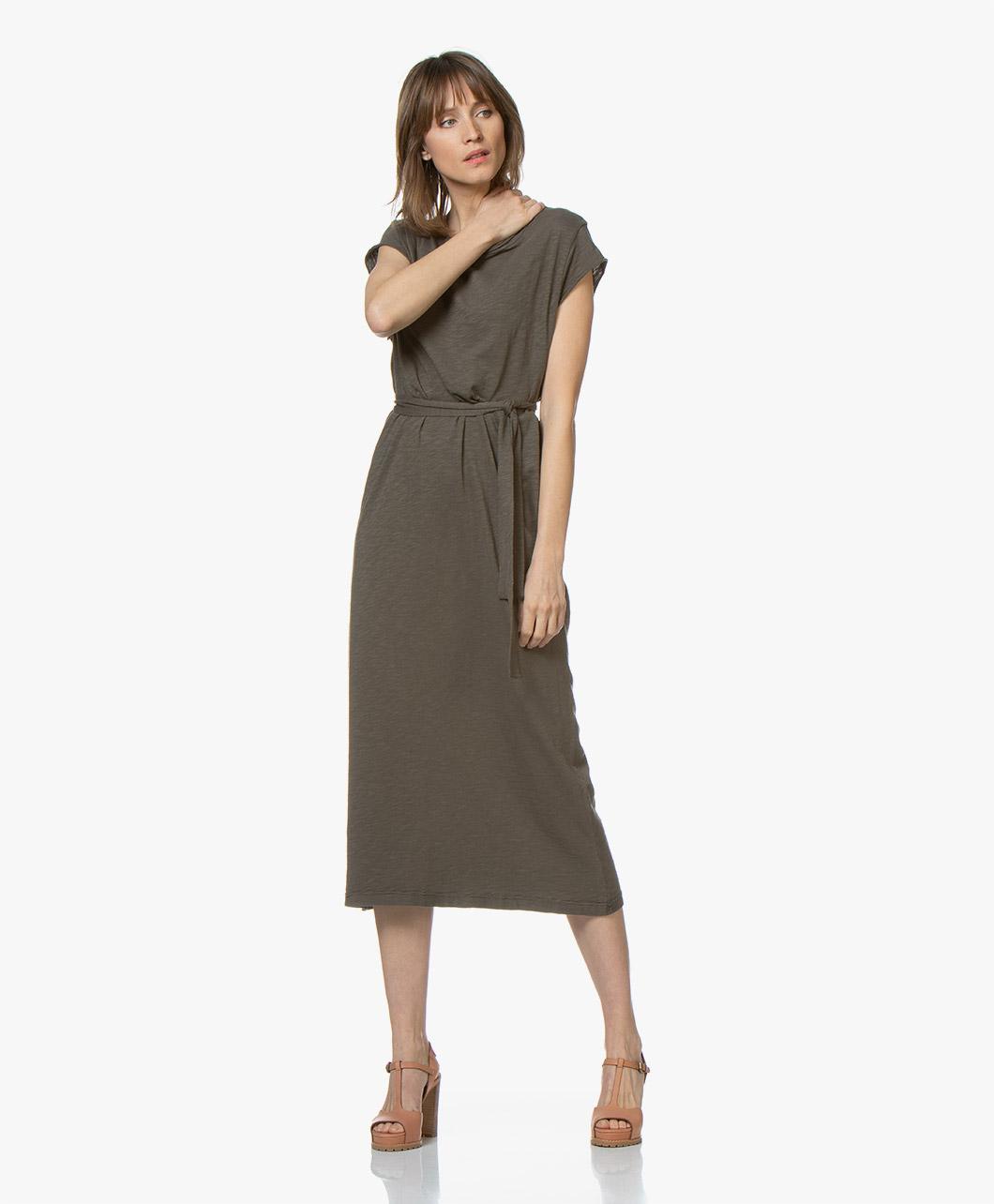 Immagine di American Vintage Dress Bysapick Jersey Midi in Bosq Green