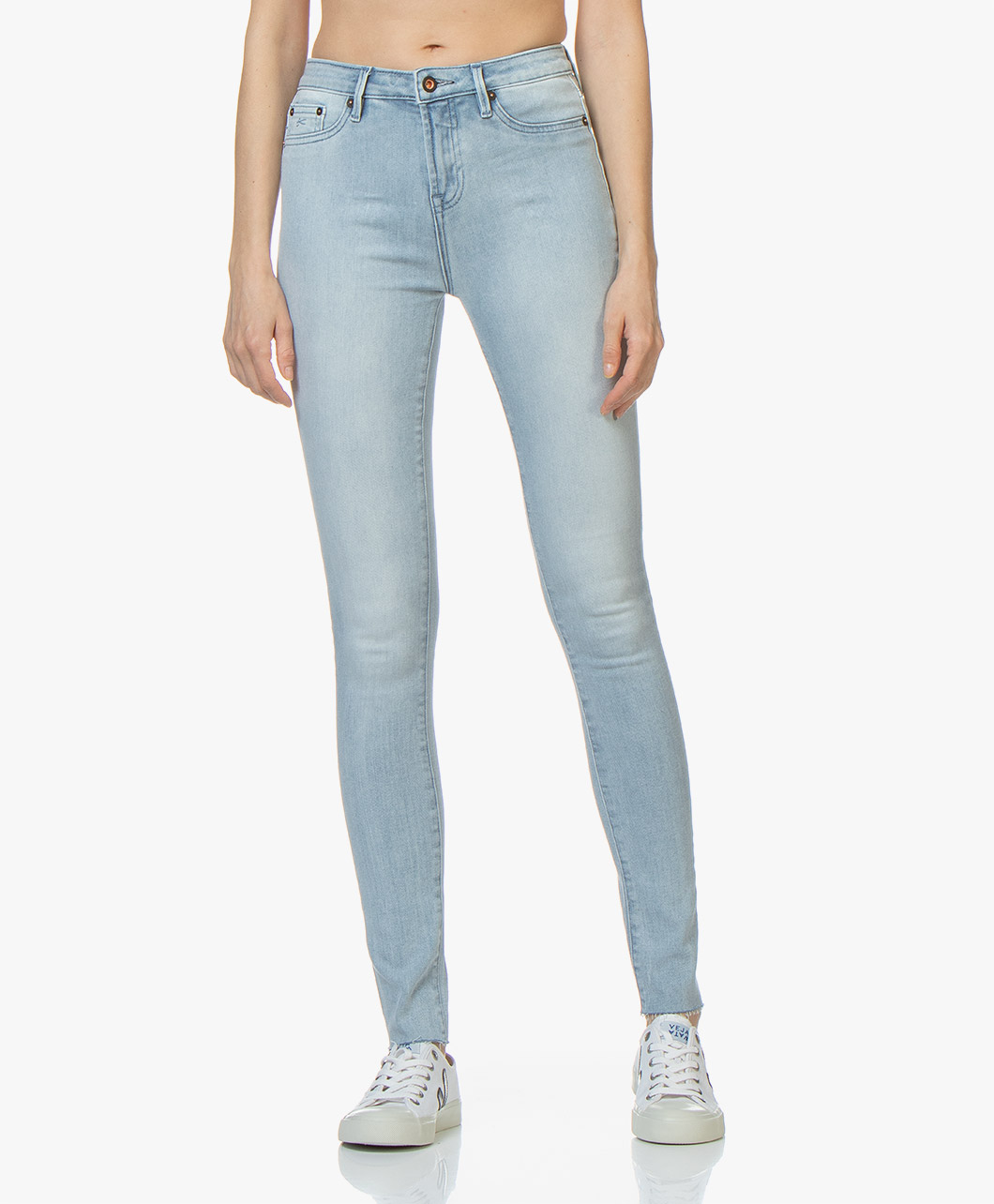 Afbeelding van Denham Jeans Lichtblauw Needle High Skinny