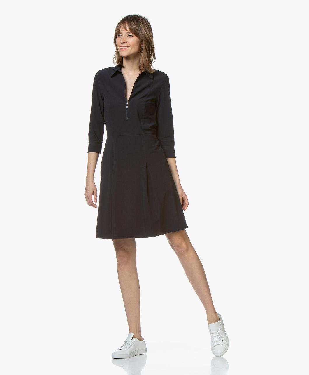 9cd781de40db78 Josephine   Co Rudie Fit   FlareTravel Jersey Dress - Navy - rudie dress
