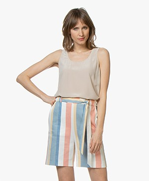BOSS Cendia Sleeveless Silk Top - Medium Beige