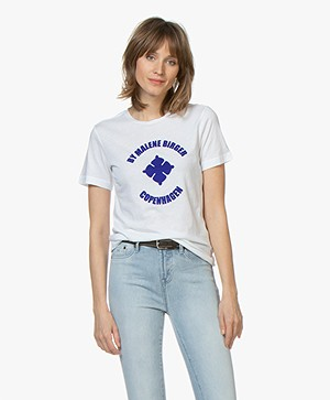By Malene Birger Flock Print T-shirt - Pure white