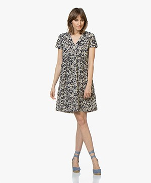 MKT Studio Rasori Floral Cotton Dress - Craie