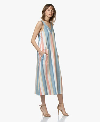 BOSS Anamy Striped A-line Dress - Open Miscellaneous
