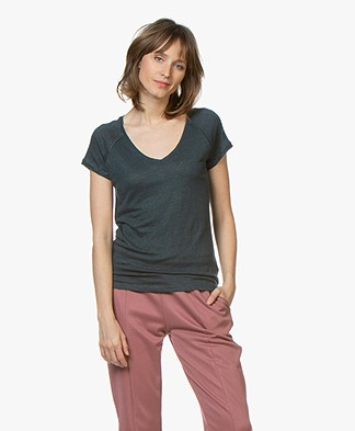 Marie Sixtine Caro Linen T-shirt - Prusse