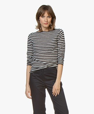 By Malene Birger Yalia Striped Sweater - Night Blue