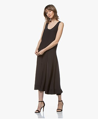By Malene Birger Viscose Dress with Circle Skirt - Black