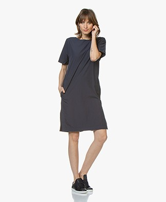 Closed Orchid Cotton Poplin Dress - Dark Night
