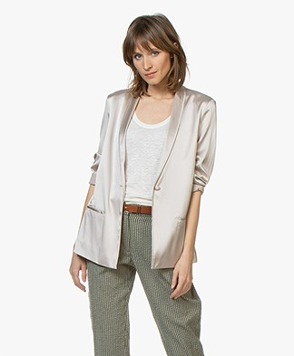Filippa K Silk Satin Pyjama Shirt - Mousse