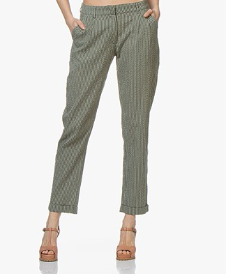 indi & cold Striped Mousseline Pants - Khaki