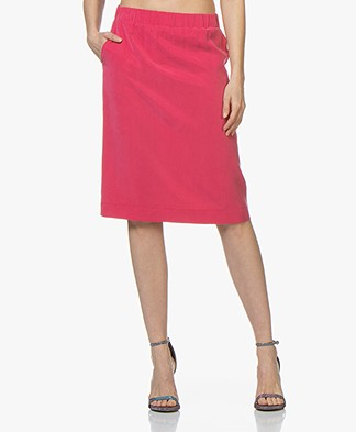 Josephine & Co Cain Tencel Skirt - Fuchsia