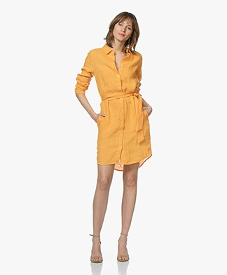 Josephine & Co Coen Linen Shirt Dress - Golden Yellow