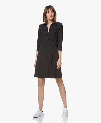 Josephine & Co Rudie Fit & Flare Travel Jersey Jurk - Navy