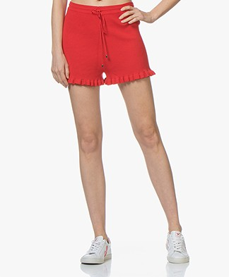 La Petite Française  Marius Knitted Short - Red