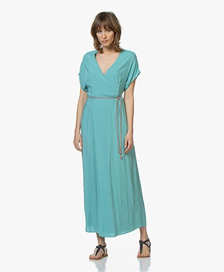 Marie Sixtine Nora Viscose Maxi Dress - Topaz