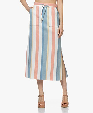 BOSS Bastria Striped Midi Skirt - Open Miscellaneous