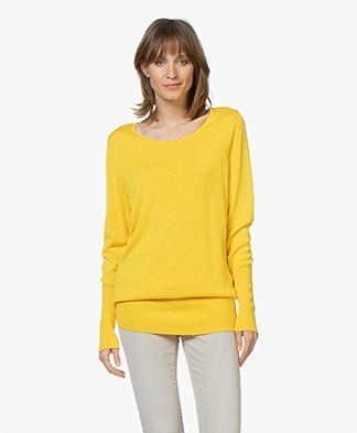 Sibin/Linnebjerg Senise Fine Knitted Tunic Sweater - Yellow