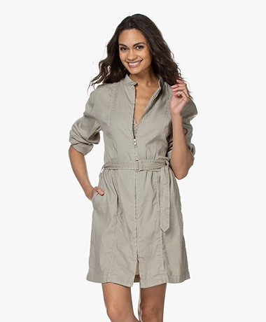 Filippa K Kaitlyn Linen Blend Dress - Greige