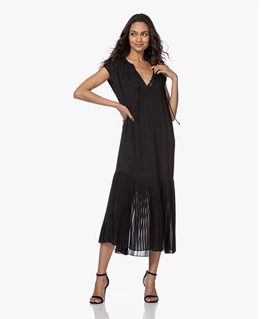 By Malene Birger Solomon Pleated Crepe Dress - Black