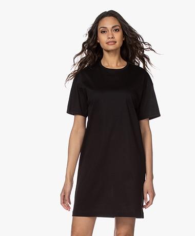 Filippa K Maddie Katoenen Jersey T-shirt Jurk - Zwart