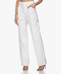Filippa K Joy Denim Cargo Broek - Coconut White