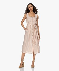 indi & cold Striped Button-through Dress - Canela