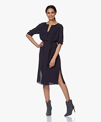 Filippa K Milla Recycled Chiffon Dress - Navy