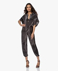 Norma Kamali Tech Jersey Printed Jumpsuit - Electric Circus