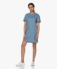 Filippa K Maddie Katoenen Jersey T-shirt Jurk - Blue Heaven