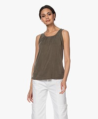 no man's land Cupro Top - Soft Safari Green