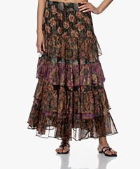 Mes Demoiselles Falcon Chiffon Tiered Skirt - Floral Combo