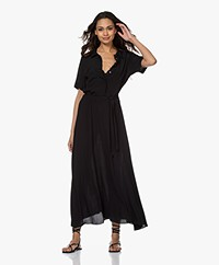 by-bar Liz Crepe Midi Shirt Dress - Black