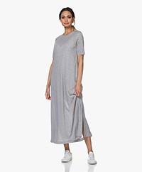Drykorn Jannie Lyocell Maxi A-line Dress - Grey Melange